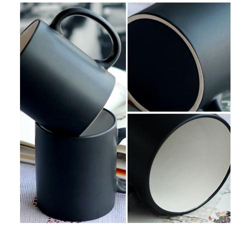르네 투톤블랙 머그컵(무광) 355ml (12온스)