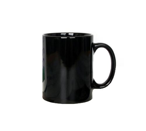 16온스 일자 블랙 머그컵 450ml