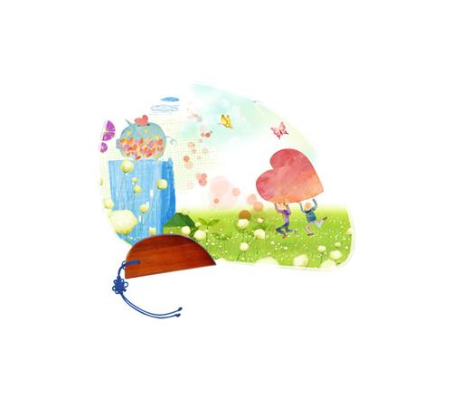 나비선 독판부채