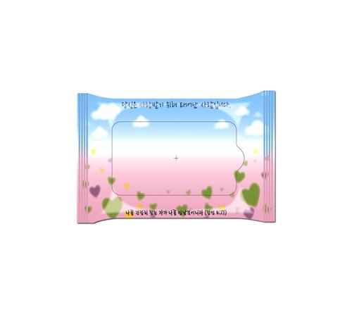 교회 전도용 분홍 10매 물티슈