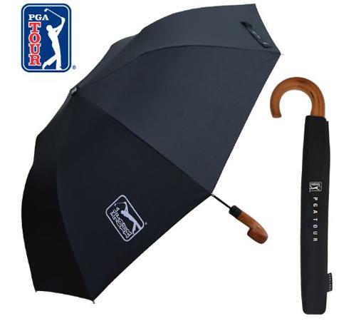 PGA 블랙우드핸들 2단우산(자동)