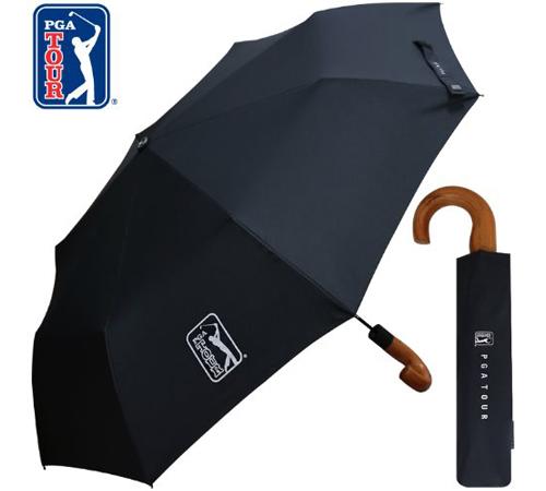 PGA 블랙우드핸들 3단우산(자동)