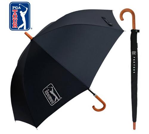 PGA 블랙우드핸들 슬라이드 70 장우산(수동)