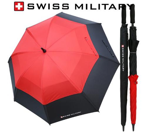 스위스밀리터리 이중방풍 80 장우산(수동)